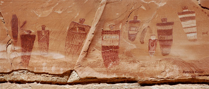 Horseshoe Canyon Great Gallery - Right Panel 2