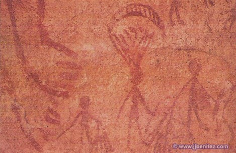 Un paracaídas en la Edad de Piedra