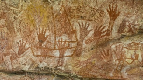 indigenous rock art at Mt Borradaile, Arnhem Land, Australia