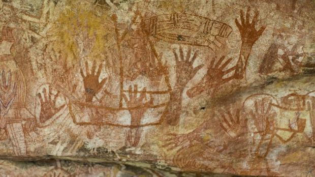 indigenous rock art at Mt Borradaile, Arnhem Land, Australia