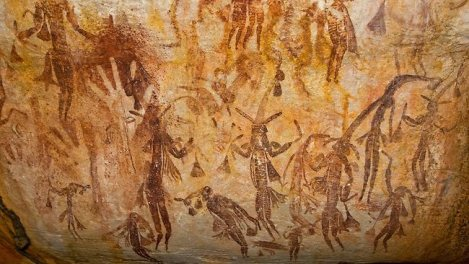 twam-rock-art Kimberley, Australia - Gwion figures and hand stencils Gwion Paintings, Caves Paintings