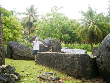 Fallen_latte_stones_at_Taga_House,_Tinian