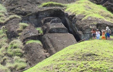 Moai inacabado Isla de Pascua